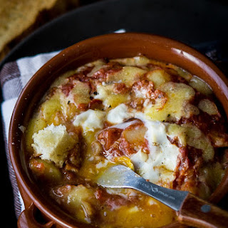 Baked Eggs With Potatoes And Anchovies