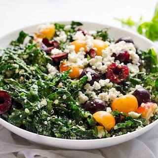 Sweet Cherry Shredded Kale Salad