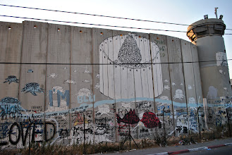 Photo: The separation barrier (also known as the apartheid wall) in Bethlehem, West Bank.