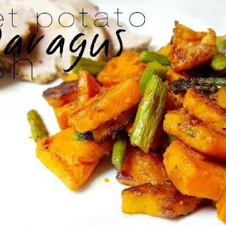 Sweet Potato Asparagus Hash.