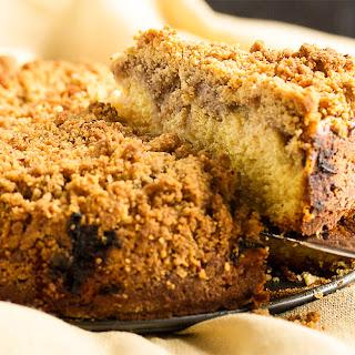 Rhubarb Coffee Cake with a Crumb Topping