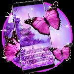 Purple Pink Butterfly Keyboard