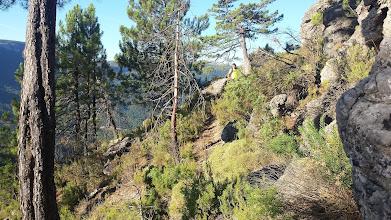 Photo: Ascendiendo a la caseta del forestal.