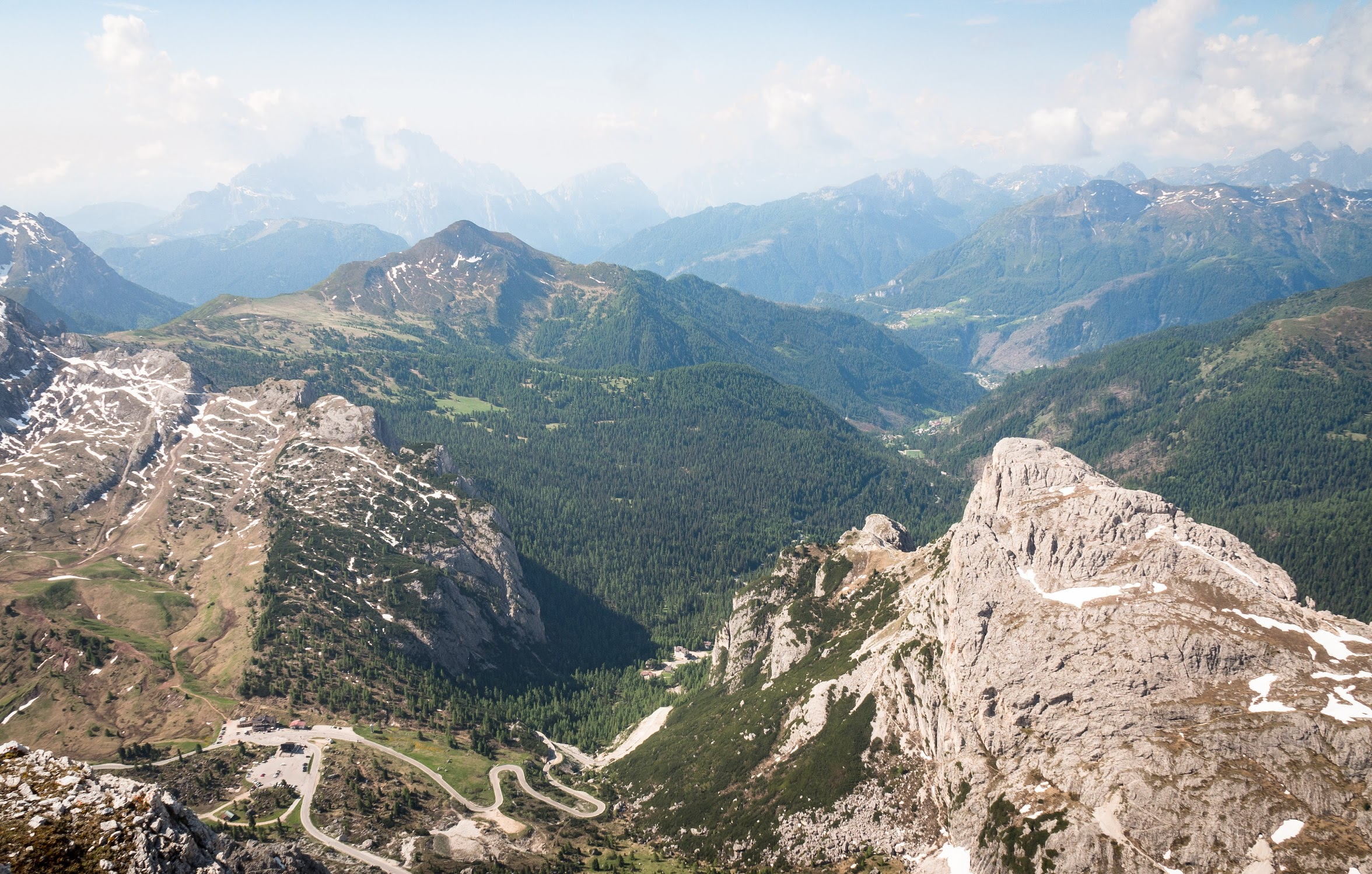 The view over Passo Falzarego