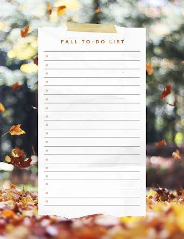 Fall To Do List - Checklist template
