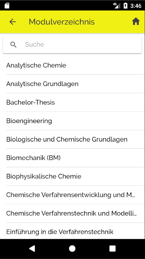 Life Sciences FHNW – Screenshot