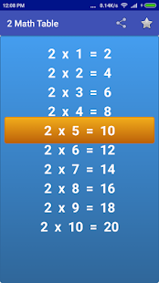 Maths Multiplication Tables- screenshot thumbnail