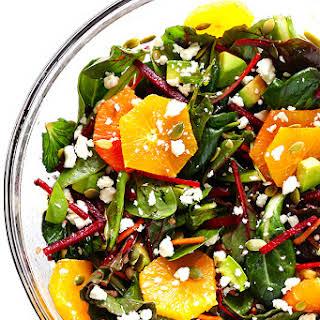 Green Salad with Beets, Oranges & Avocado.