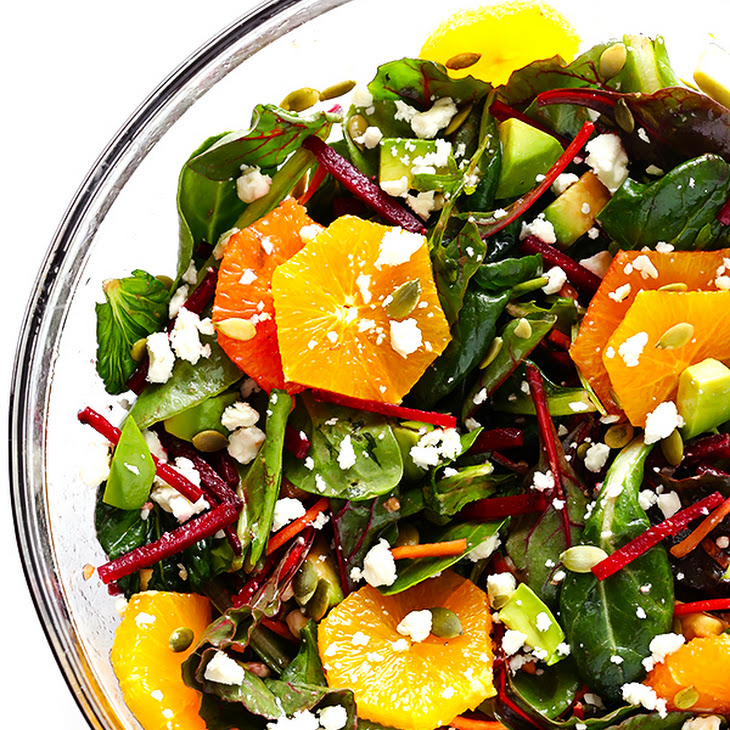 Green Salad with Beets, Oranges & Avocado