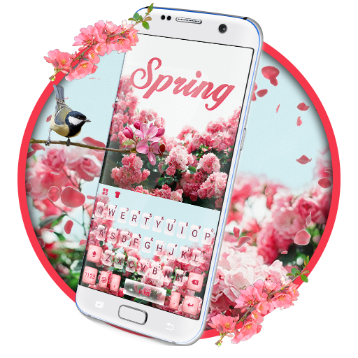 Girly Garden Flowers Keyboard Theme Icon