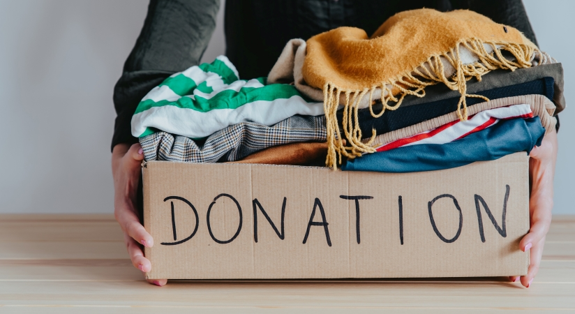 Donating unwanted items is a great first step when preparing for a move.