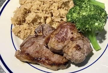 """Pan-fried """"Asian"""" Lamb Chops"""