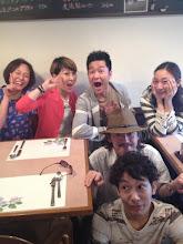Photo: プルミエ店長のキヨトさんとゲストの AliBabaのお二人と♪みんな観に来てね〜!5/27