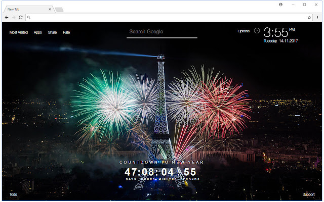 New Year Countdown 2018 HD Wallpapers New Tab - Chrome Web Store