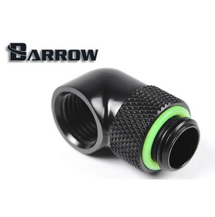 """Barrow svivel, 90°, 1/4""""BSPx1/4""""BSP, Black"""