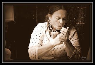Photo: Bäckerin mit Fluppe