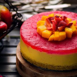 No Bake Eggless Mango Cheesecake