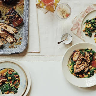 Pork Belly With Cashews And Spinach.