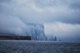 Photo: Le sud de l'île au ourse, petite ile pile entre la norvège et le svalbard, lieu de replis si les conditions sont mauvaises. Accueillant non ?
