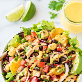 Caribbean Chicken Salad with Mango Dressing.