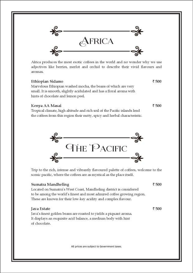 Sea Lounge - The Taj Mahal Palace menu 16