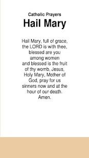 Catholic Prayers Hail Mary - náhled