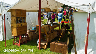 Photo: One of the selling displays at the festival.