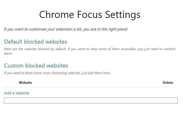 Chrome Focus