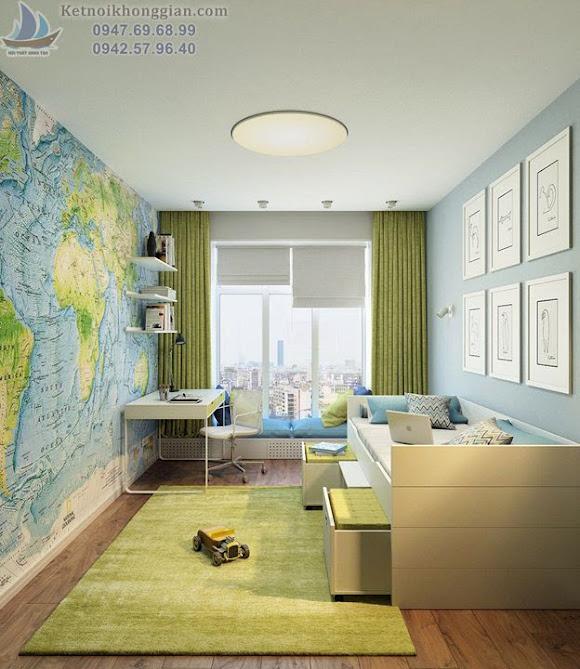 thiết kế phòng ngủ cho bé sáng tạo