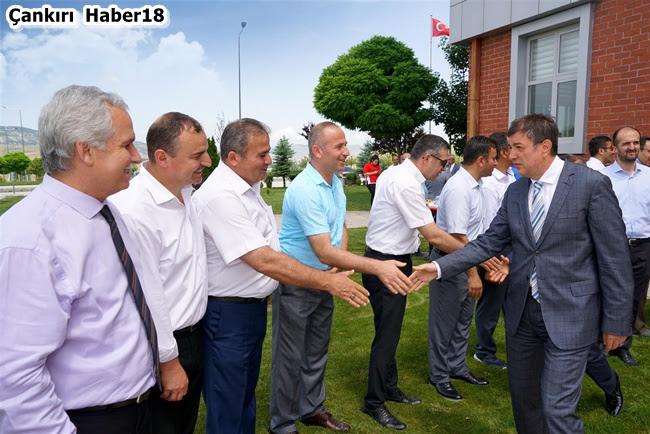 Çankırı Karatekin Üniversitesi,Çankırı Üniversitesinde Bayramlaşma, Çankırı Üniversite Haberleri,Rektör Hasan Ayrancı,