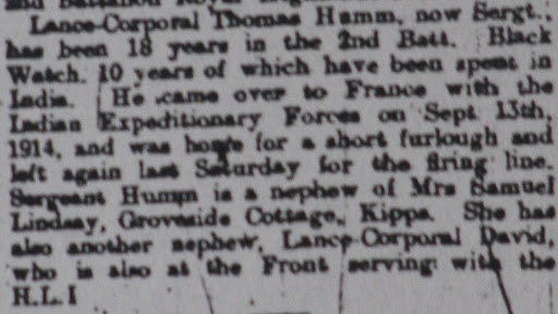 Thomas   Humm DCM newspaper clipping