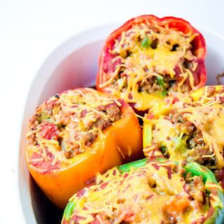 Taco Turkey Quinoa Stuffed Peppers