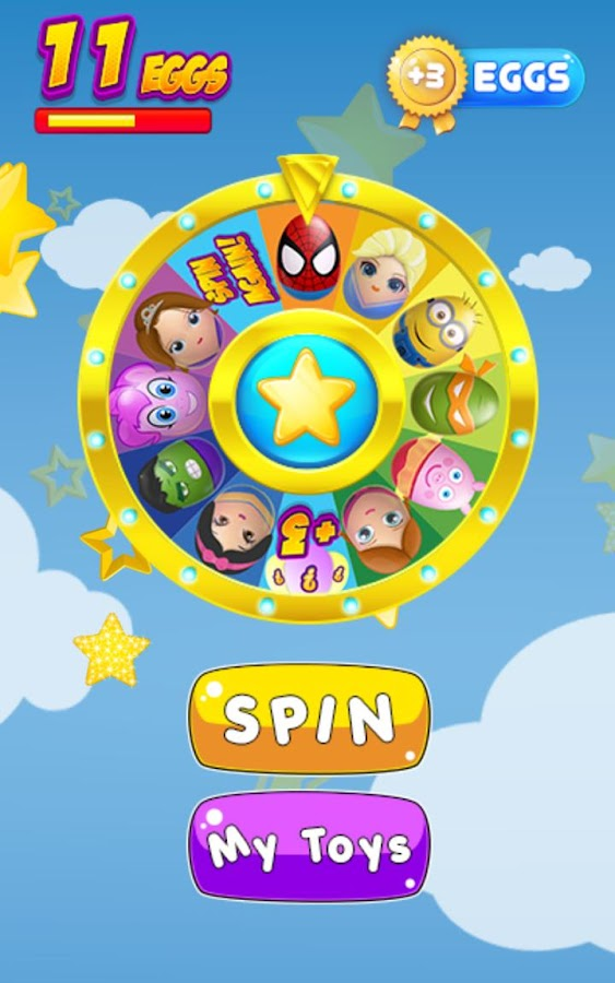 Wheel of Surprise Eggs & Toys- screenshot