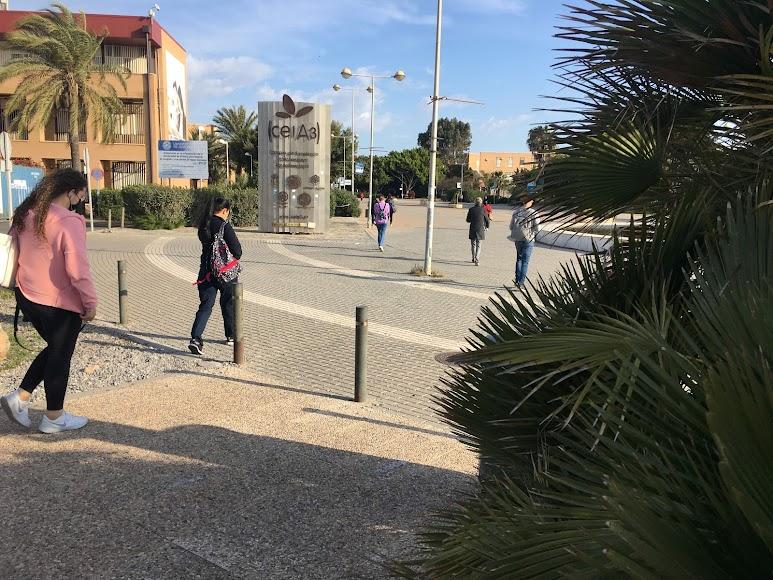 Estudiantes llegando al Campus almeriense.