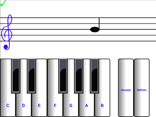 Learn sight read music notes ¼ Screenshot