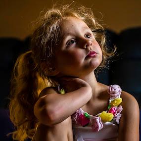 Watching TV by William Boyea - Babies & Children Children Candids ( girl,  )