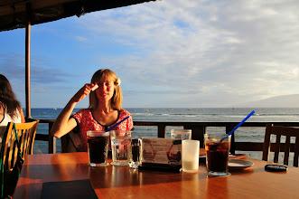 Photo: Hair-brush (waiting for dinner in a spectacular ocean-front restaurant).