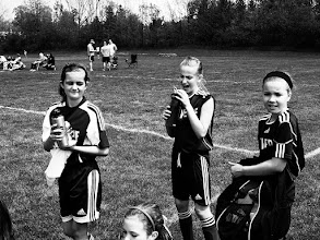 Photo: Niece and her soccer teammates, May 2012. Revere beat Norton 2-1.
