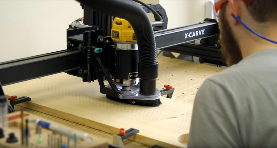 Cutting holes can be done a variety of ways, but the easiest way for me was using a CNC 3D carver.