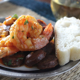 Shrimp and Chorizo Tapas #SundaySupper.