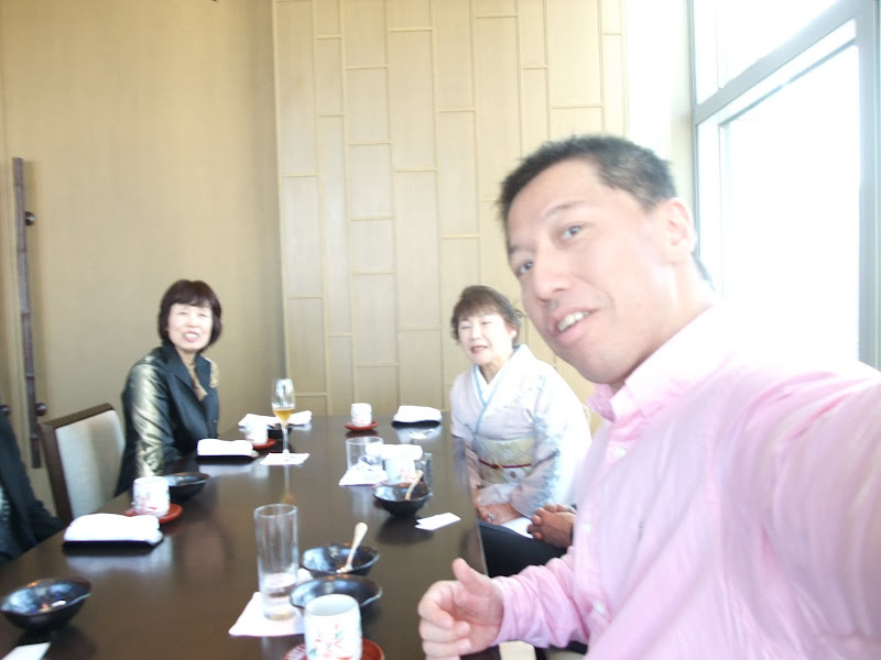 Photo: My parents and Takako's parents came to the lunch at Nadaman (だな万).