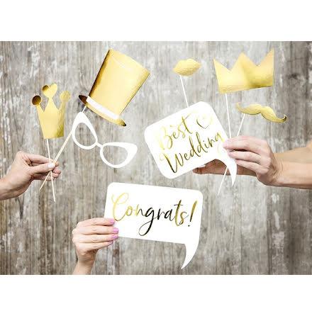 Photobooth-kit - Bröllop guld