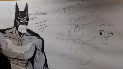 Photo: Batman meets El Listo en el muro de #Kboom2015.