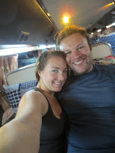 """Photo: Overnight bus in Laos. Luckily I knew the person I was sharing the """"bed"""" with"""