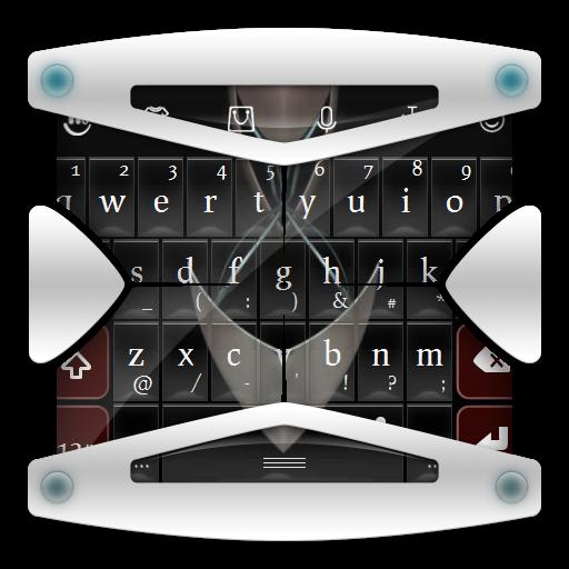 个人化の未来ブラック TouchPal テーマ LOGO-記事Game