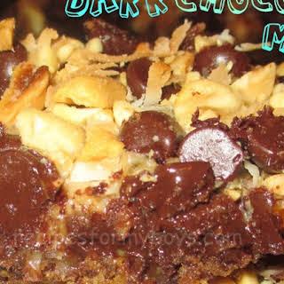 Peanutty Dark Chocolate Magic Bars.
