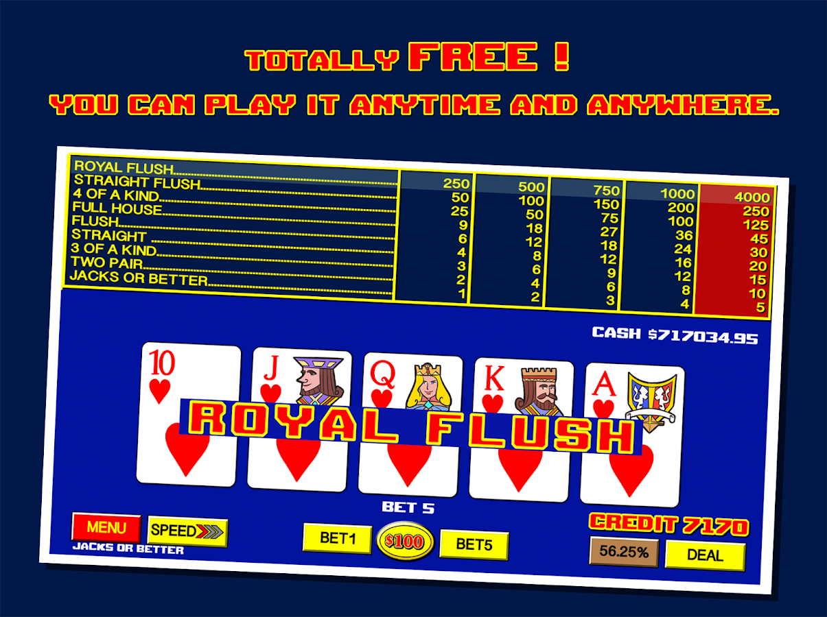 video poker games for free