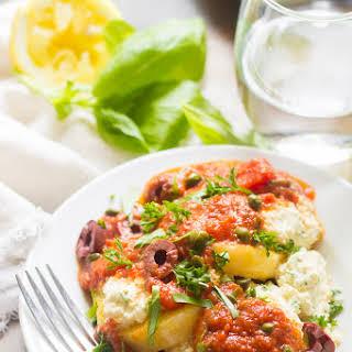 Vegan Polenta Puttanesca.