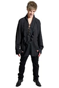 Vampyrskjorta, svart