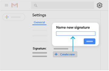 Create a new signature in Settings